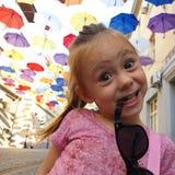 Ragazza felice fotografie stock