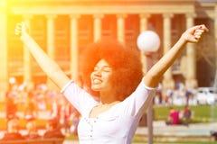 Ragazza felice al sole Fotografia Stock Libera da Diritti