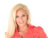 Ragazza felice con capelli biondi Immagini Stock Libere da Diritti