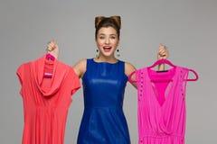 Ragazza felice con i vestiti Immagine Stock Libera da Diritti