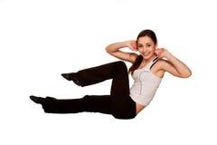 Ragazza felice dell'adolescente che gioca gli sport, allenamento di forma fisica. Fotografia Stock Libera da Diritti