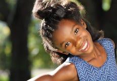 Ragazza felice dell'afroamericano Fotografia Stock Libera da Diritti