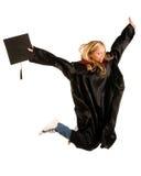 Ragazza felice dell'allievo graduato Fotografia Stock Libera da Diritti