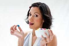 Ragazza felice della caramella Fotografia Stock