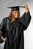 Ragazza felice di graduazione Fotografia Stock