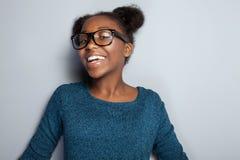 Ragazza felice in occhiali Immagine Stock