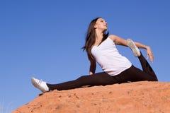 Ragazza flessibile del gymnast Fotografia Stock Libera da Diritti