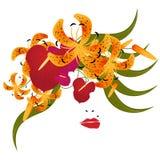 Ragazza floreale di vettore Royalty Illustrazione gratis