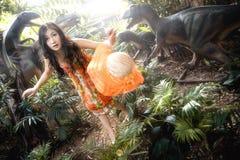 Ragazza in foresta Fotografia Stock Libera da Diritti