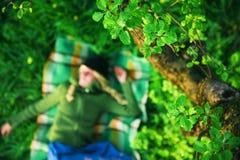 Ragazza in foresta Immagini Stock Libere da Diritti