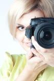 Ragazza-fotografo Immagine Stock Libera da Diritti