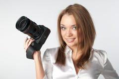 Ragazza-fotografo Fotografie Stock