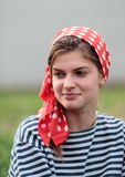 Ragazza in foulard Immagine Stock Libera da Diritti