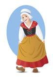 Ragazza francese in costume nazionale Fotografie Stock Libere da Diritti