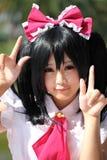 Ragazza giapponese di cosplay del carattere di anime Fotografie Stock Libere da Diritti