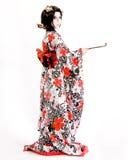 Ragazza giapponese di Kabuki di cosplay dell'Asia Fotografie Stock