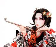Ragazza giapponese di Kabuki di cosplay dell'Asia Immagine Stock Libera da Diritti