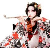 Ragazza giapponese di Kabuki di cosplay dell'Asia Fotografie Stock Libere da Diritti