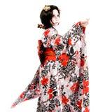 Ragazza giapponese di Kabuki di cosplay dell'Asia Fotografia Stock