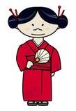 Ragazza giapponese in vestito tradizionale Fotografia Stock Libera da Diritti