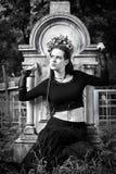 Ragazza gotica fotografie stock libere da diritti