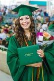 Ragazza graduata della High School fotografia stock