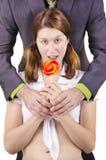 Ragazza graziosa con il Lollipop Fotografia Stock Libera da Diritti