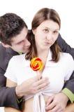 Ragazza graziosa con il Lollipop Fotografie Stock Libere da Diritti