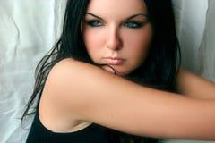Ragazza graziosa con pelle perfetta Immagine Stock