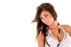 Ragazza graziosa del Brunette fotografie stock