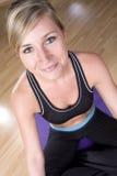 Ragazza graziosa di yoga Fotografia Stock