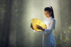Ragazza graziosa nel Vietnam Fotografia Stock
