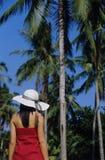 Ragazza graziosa sulla spiaggia immagini stock libere da diritti