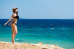 Ragazza in Grecia immagini stock
