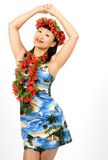 Ragazza hawaiana fotografia stock libera da diritti