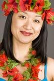 Ragazza hawaiana Immagini Stock Libere da Diritti