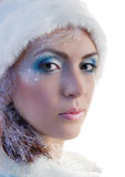 Ragazza il Babbo Natale fotografie stock libere da diritti