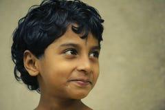 Ragazza indiana con i capelli di scarsità Fotografia Stock