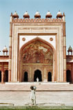 Ragazza indiana a Fatehpur Sikri, India Fotografie Stock