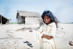 Ragazza indiana in villaggio Fotografia Stock