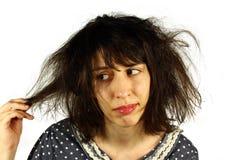 Cattivo giorno dei capelli Fotografie Stock