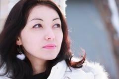 Ragazza in inverno Fotografia Stock
