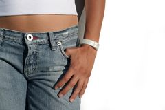 Ragazza in jeans Fotografia Stock