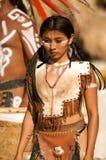 Ragazza latina indigena Fotografia Stock Libera da Diritti