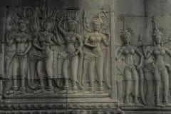 Ragazza leggiadramente di Angkor Wat Immagine Stock