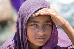 Ragazza locale in Manali, India Fotografia Stock Libera da Diritti