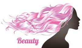 Ragazza lunga dei capelli illustrazione vettoriale
