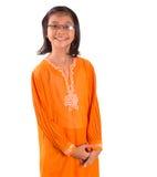 Ragazza malese in vestito tradizionale II Immagini Stock Libere da Diritti