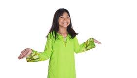 Ragazza malese in vestito tradizionale II Fotografie Stock