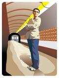 Ragazza in metropolitana Fotografia Stock Libera da Diritti